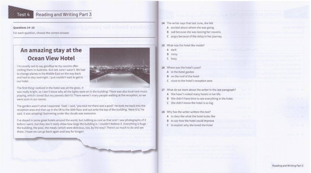 KET Reading and Writing part 3