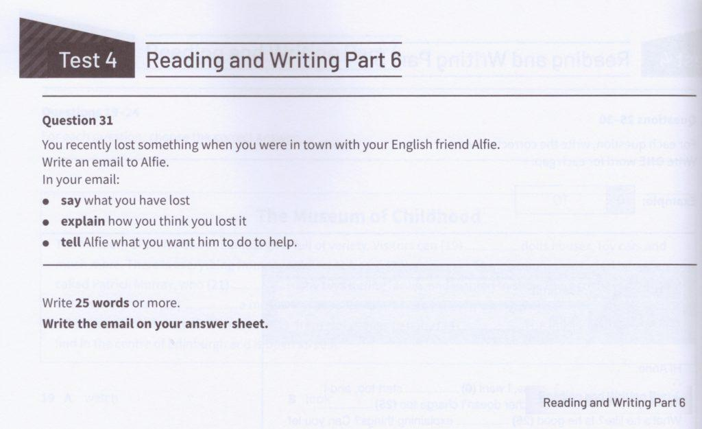 KET Reading and Writing part 6